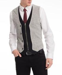 Grey & Black waistcoat
