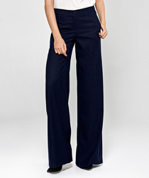 Navy blue wide leg formal trousers