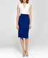 Blue high-waist pencil skirt Sale - colett Sale