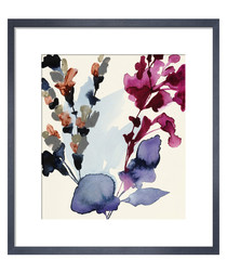Indigo Rock 25 framed print