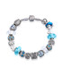 Silver-tone & blue bead bracelet Sale - mestige Sale