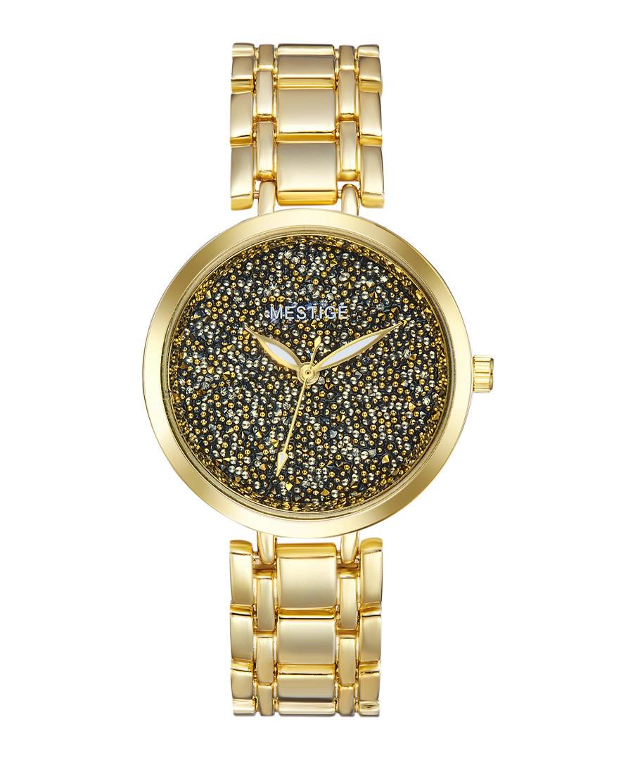 Gold-tone crystal & steel watch Sale - mestige
