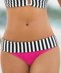 Pink print bikini briefs