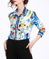Multi-colour print button-up shirt Sale - Kaimilan Sale