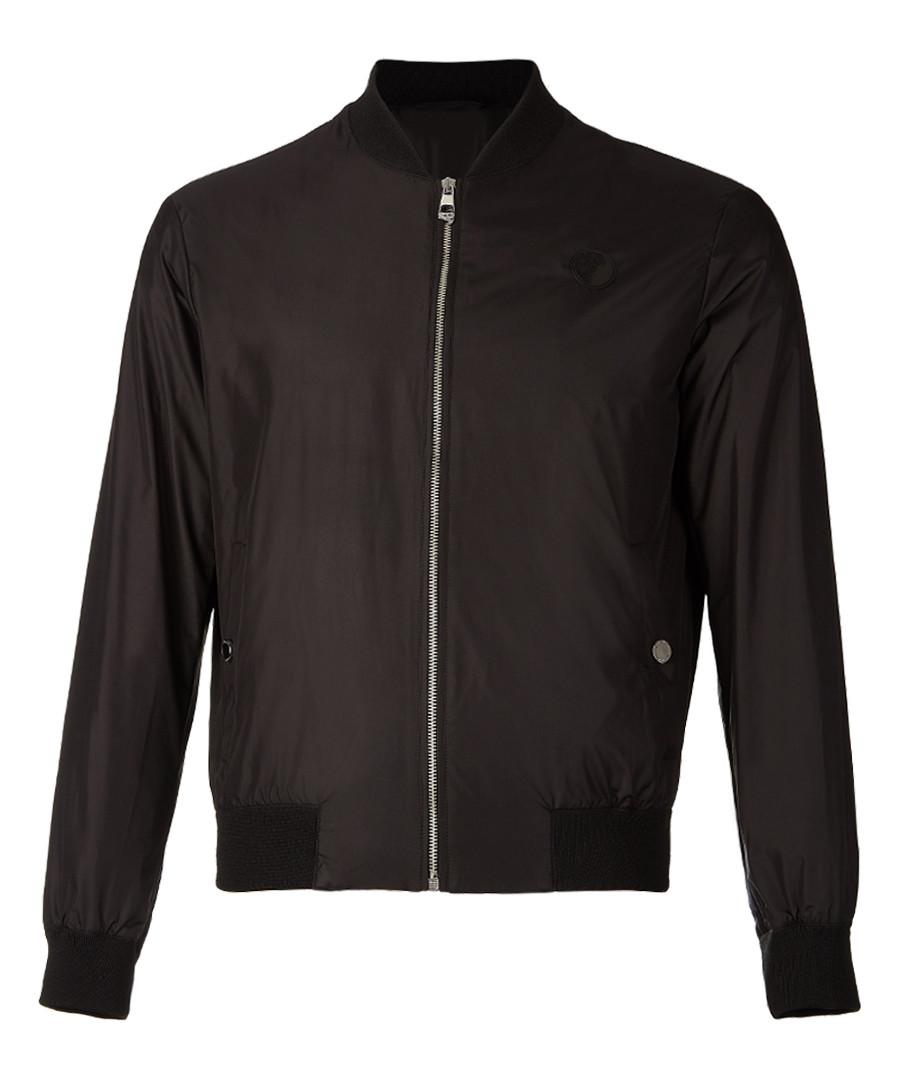 Black zip-up branded bomber jacket Sale - versace collection