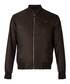 Brown zip-up branded bomber jacket Sale - versace collection Sale