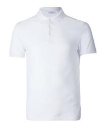 White pure cotton polo shirt