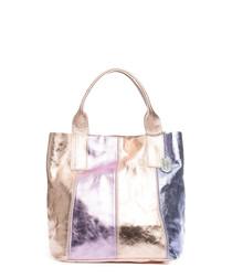 Multi-colour leather shoulder bag