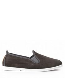 Unisex Argi grey canvas slip-on shoes