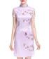 Lavender Chinese collar floral dress Sale - lanelle Sale