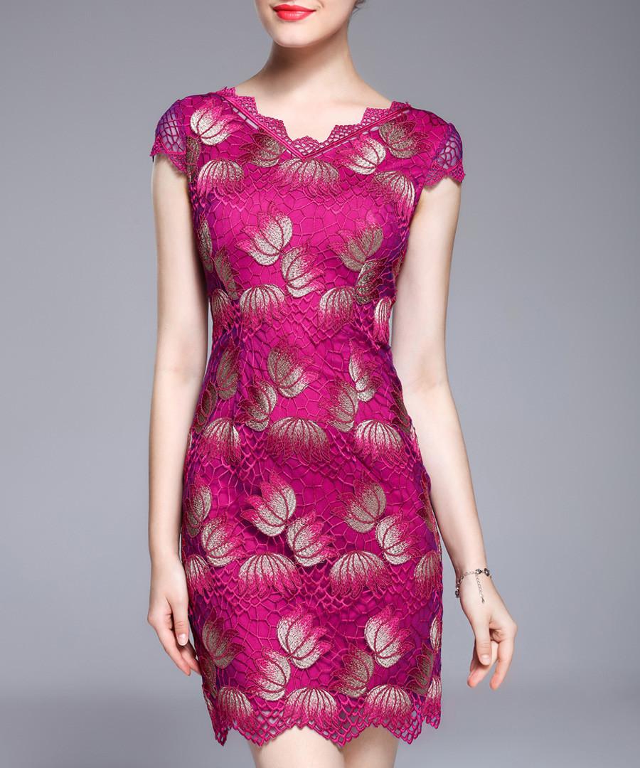 Crimson cap sleeve mini dress Sale - lanelle
