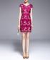 Crimson cap sleeve mini dress Sale - lanelle Sale