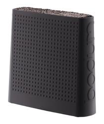 Black rubber knife block