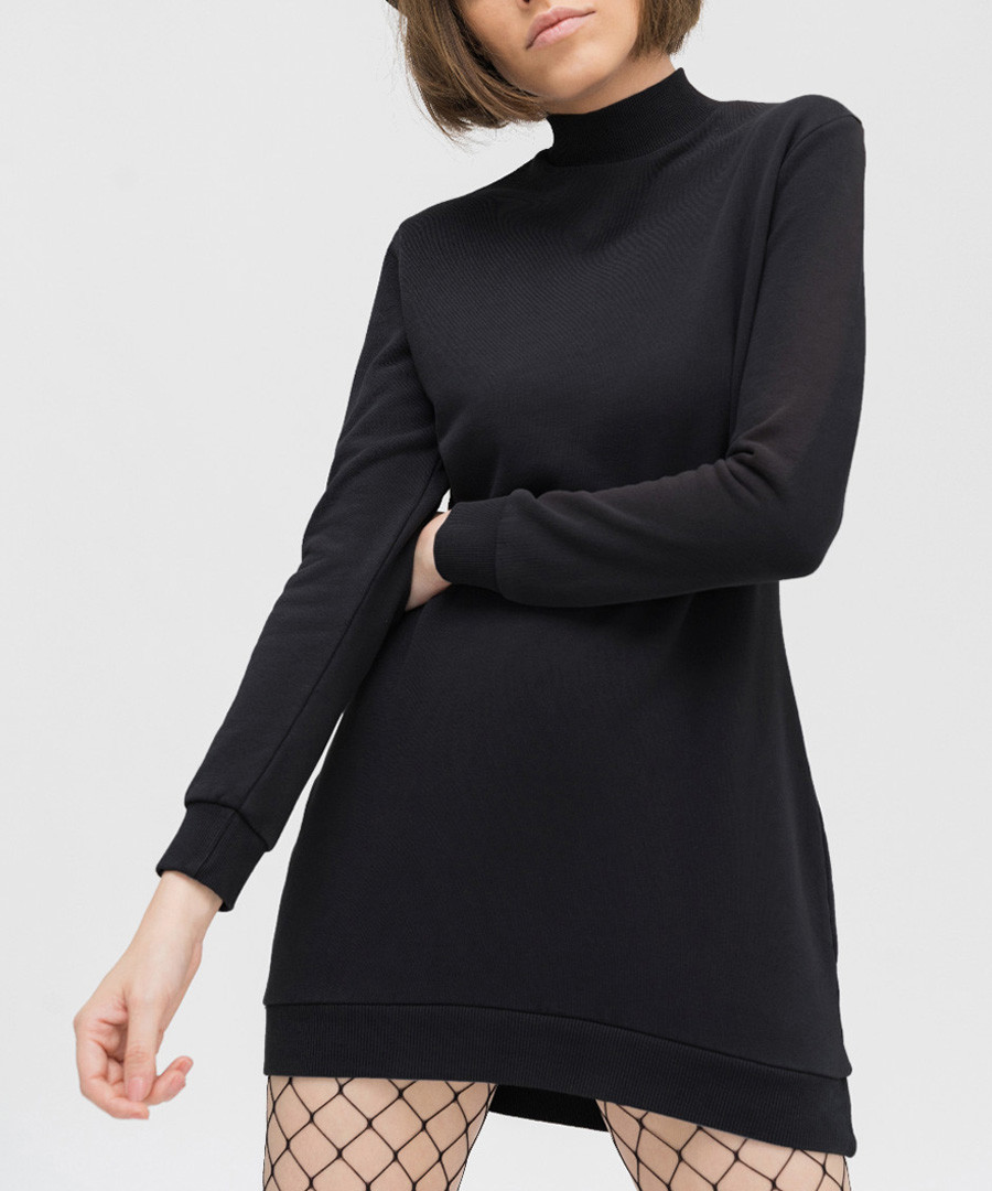 Anthracite pure cotton high-neck dress Sale - true prodigy