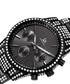 Black steel & crystal strap watch Sale - Joshua & Sons Sale