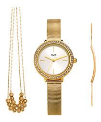 3pc gold-tone watch set