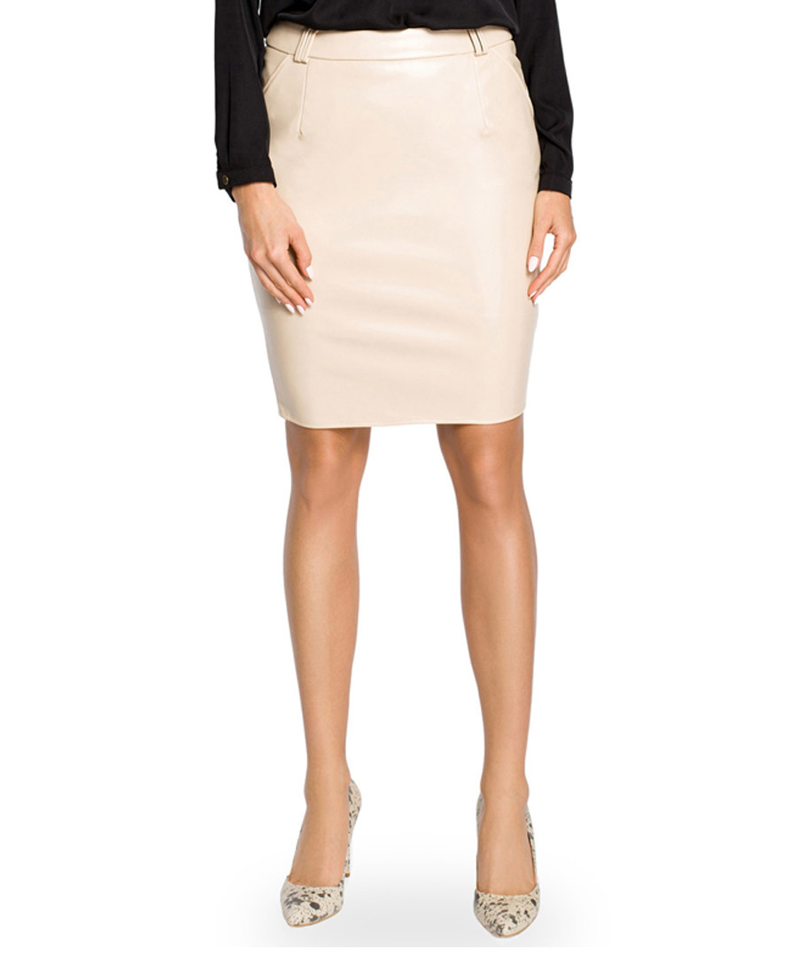 Beige pencil knee-length skirt Sale - made of emotion