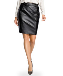 Black pencil knee-length skirt