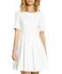 Ecru cotton blend pleated mini dress Sale - made of emotion Sale