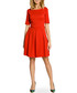 Red cotton blend pleated mini dress Sale - made of emotion Sale