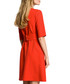 Red 3/4 sleeve knee-length dress Sale - made of emotion Sale