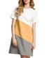 Grey & camel cotton blend T-shirt dress Sale - made of emotion Sale