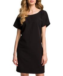 Black short sleeve T-shirt dress