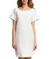 Ecru scoop neck mini dress Sale - made of emotion Sale