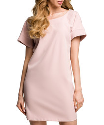 Powder pink T-shirt mini dress