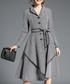 Grey long sleeve button-up midi dress Sale - Kaimilan Sale