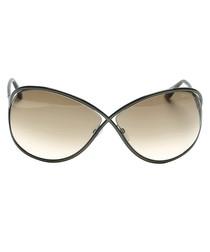 Brown gradient oversized sunglasses