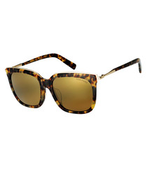 Havana & gold mirror sunglasses