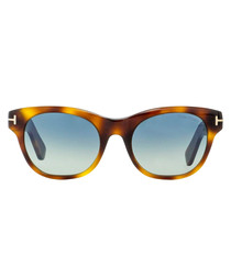 Havana & blue gradient sunglasses
