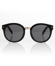 Black & grey round sunglasses