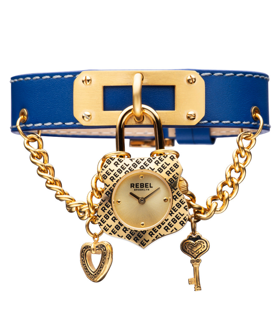 Seagate blue leather watch  Sale - rebel