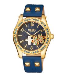 Gravesend navy leather watch