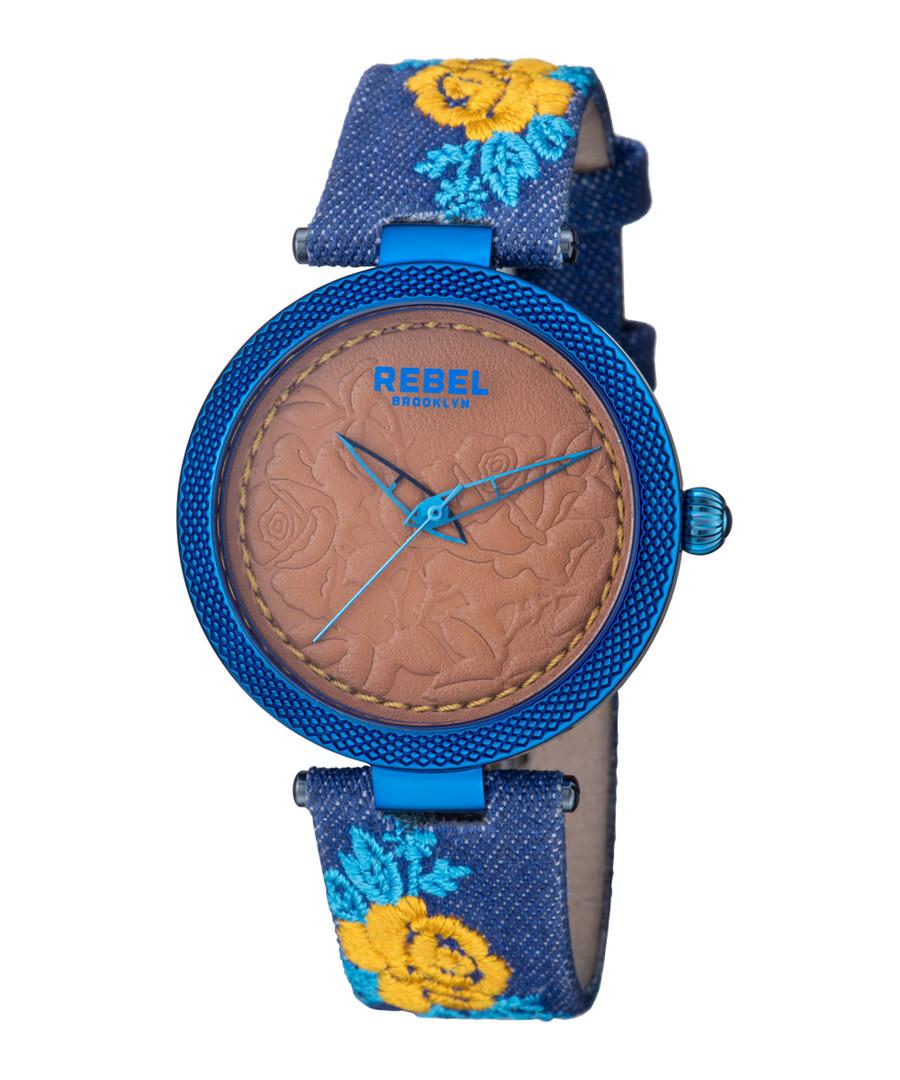 Carroll Gardens blue printed watch Sale - rebel