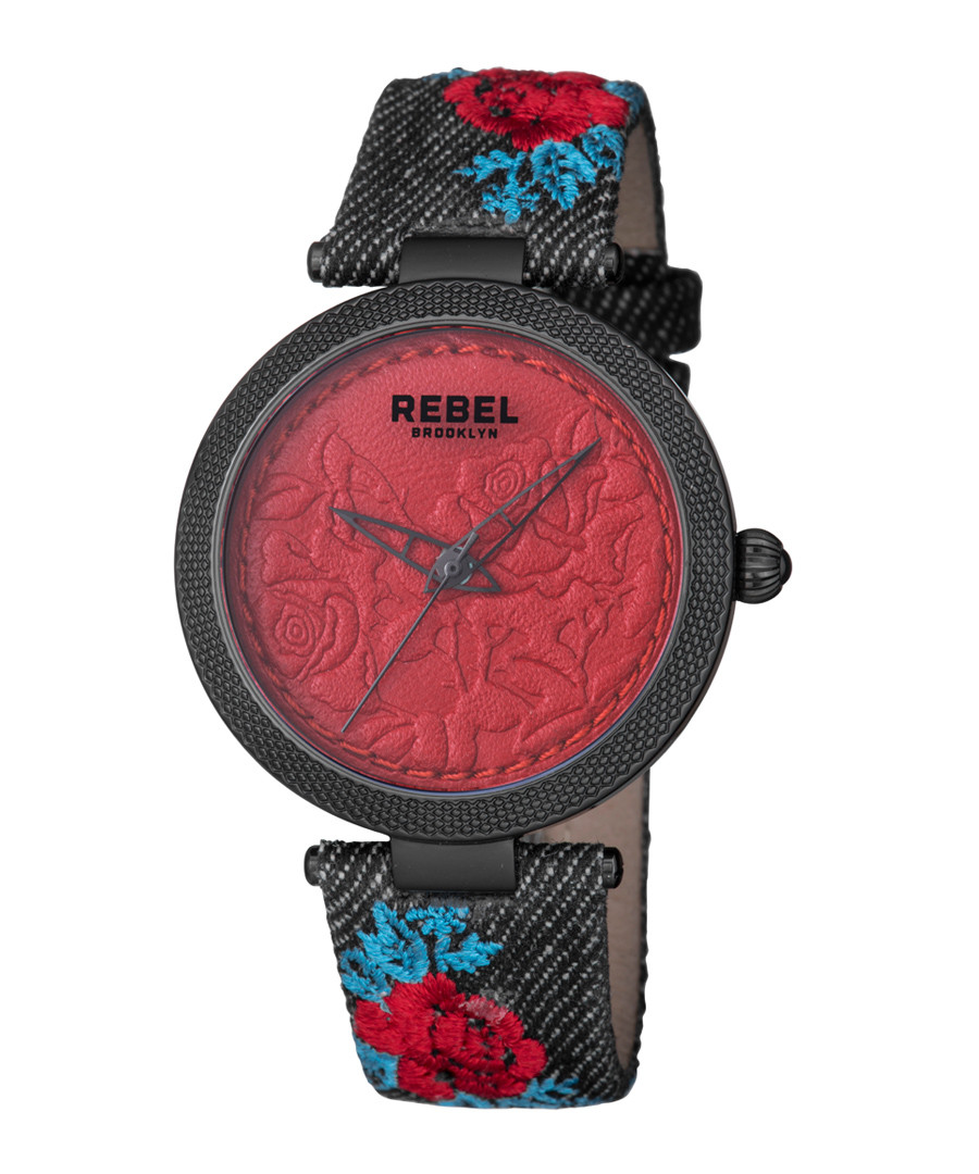 Carroll Gardens green & red watch  Sale - rebel