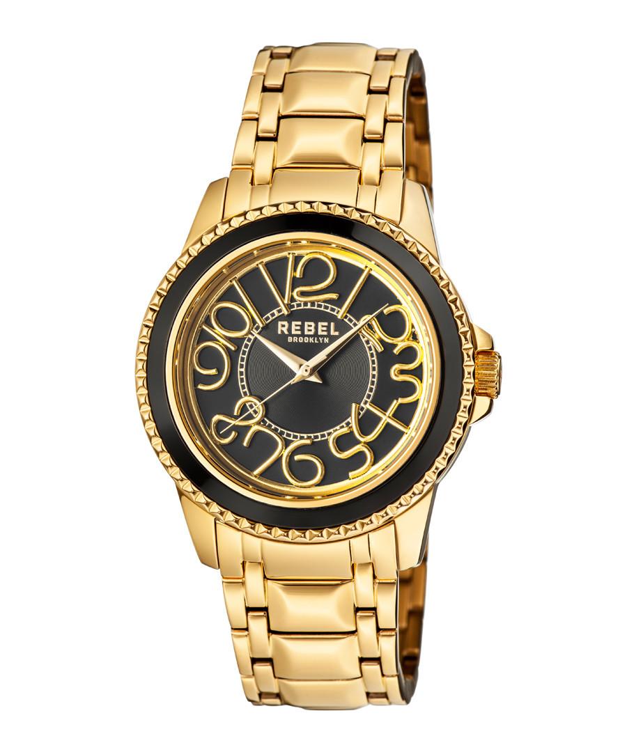 Williamsburg gold-tone & black watch Sale - rebel