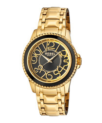 Williamsburg gold-tone & black watch