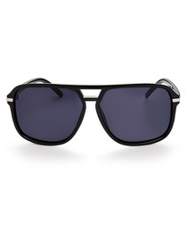 Malin black top-bar sunglasses