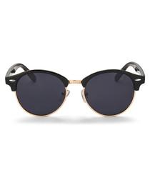 Charles black & gold-tone sunglasses
