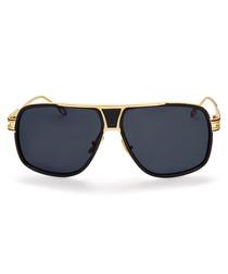 Jaden black & gold-tone sunglasses