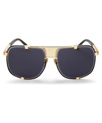 Tobias black & gold-tone sunglasses