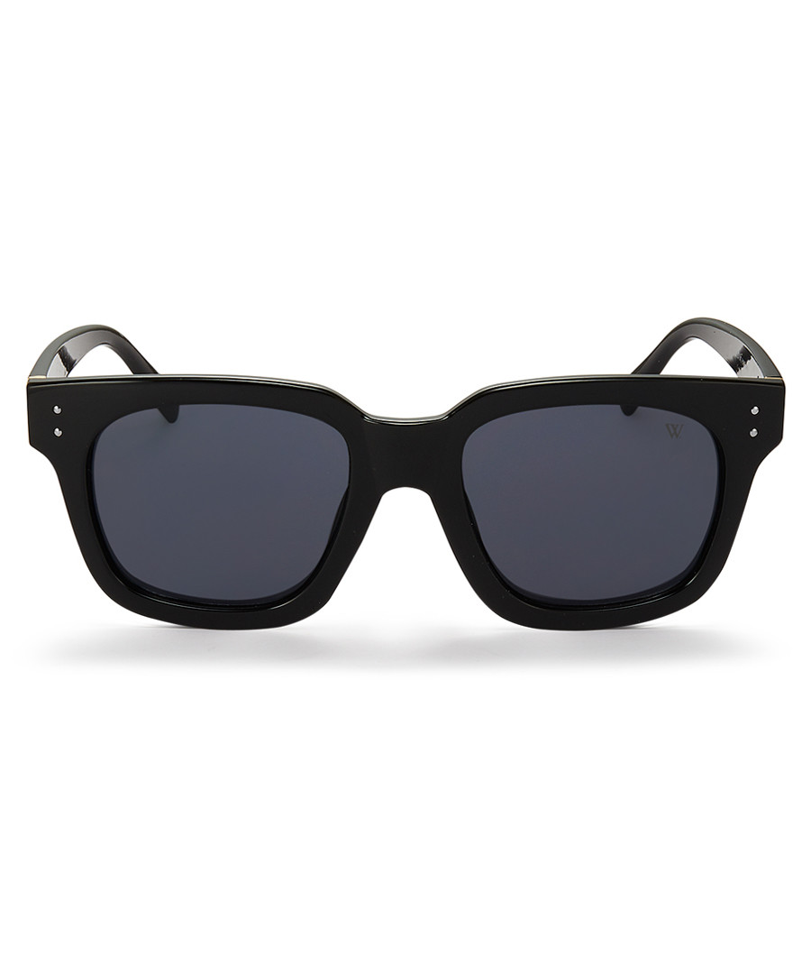 Clarence black thick-frame sunglasses  Sale - winstonne