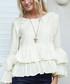 Cream pure silk ruffle top  Sale - Aspiga Beach Sale