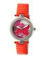Orange leather moc-croc floral watch Sale - sophie & freda Sale
