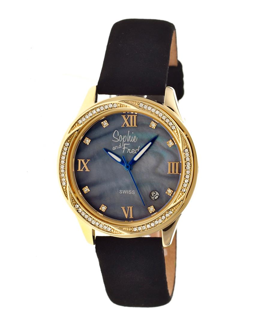 Black & gold-tone steel watch Sale - sophie & freda