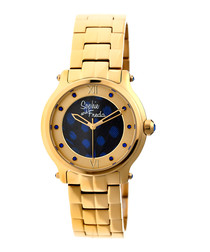 Gold-tone steel numeral watch