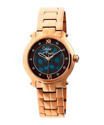 Rose gold-tone steel watch